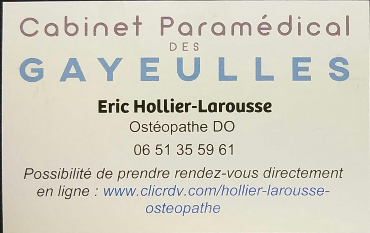 Eric Hollier-Larousse ostéopathe DO